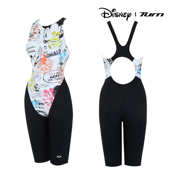 디즈니-턴 DKALO69 (WHT) 여성 일반 반전신 수영복