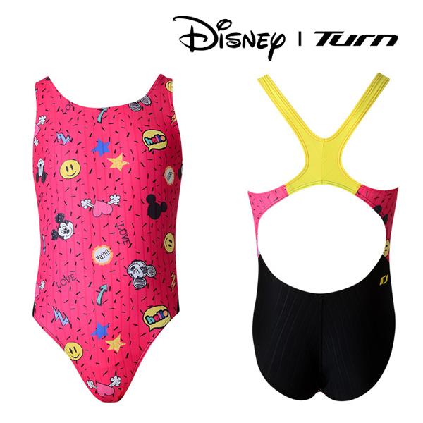 디즈니-턴 DLAGO02 RED 여아동 일반 원피스 수영복