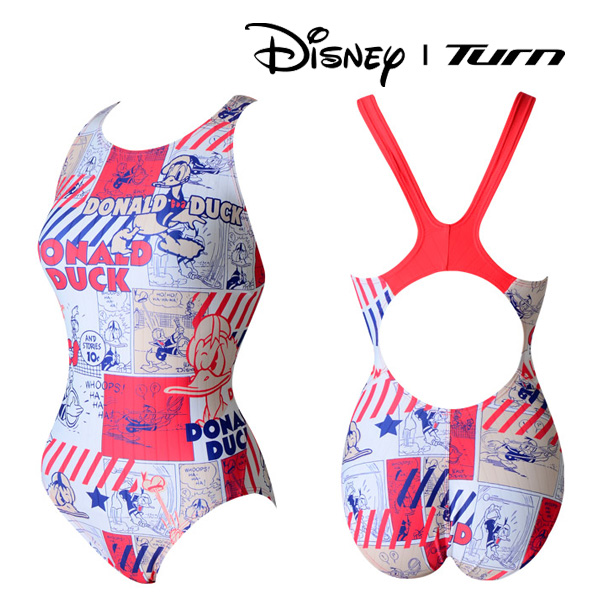 디즈니-턴 DLALO02 RED 여성 일반 원피스 수영복