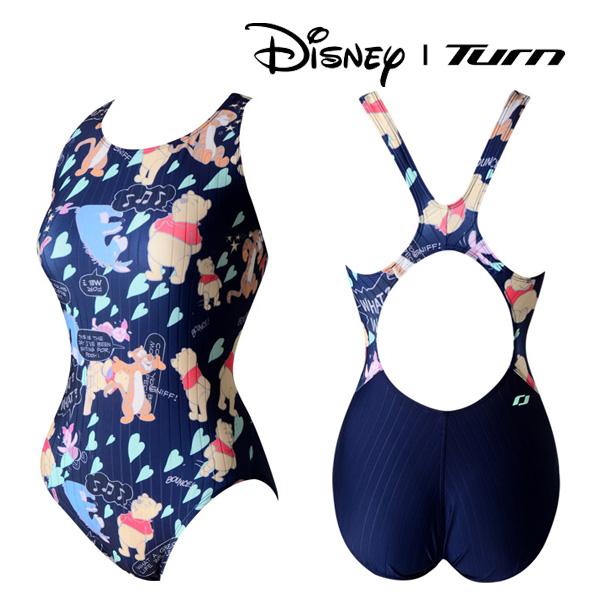 디즈니-턴 DLALO08 NVY 여성 일반 원피스 수영복