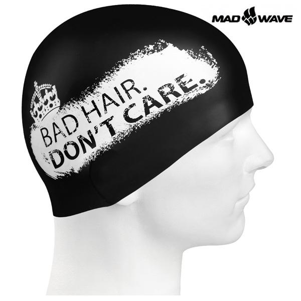 DONT CARE (BLACK) MAD WAVE 실리콘 수모 수영모