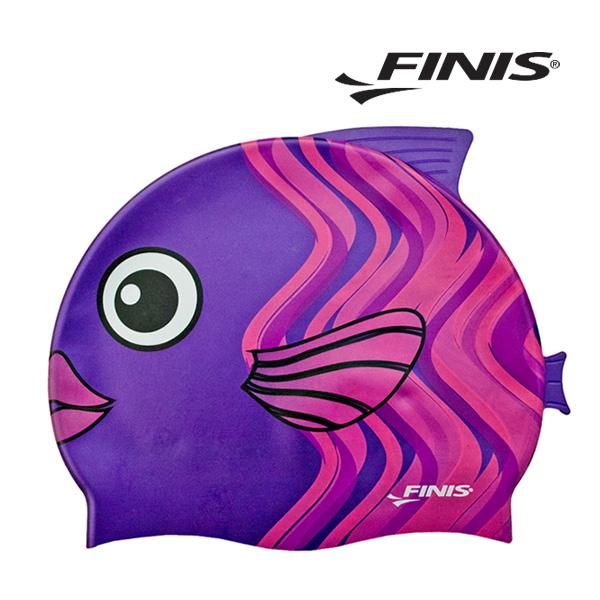 피니스 물고기 실리콘 아동 수모 (보라)