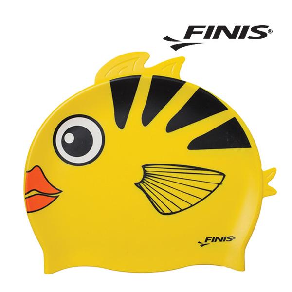 피니스 물고기 실리콘 아동 수모 (노랑)