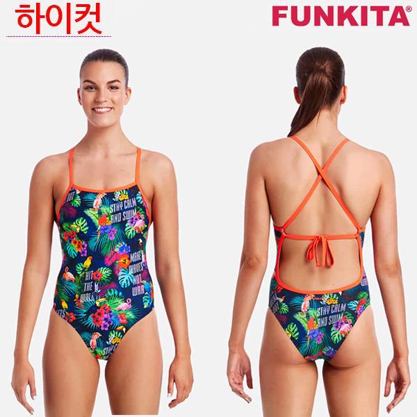 FKS001L01978-Tropic Tag 펑키타 탄탄이 원피스 수영복