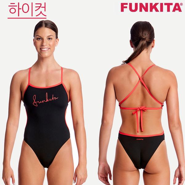 FKS004L02083-Black Cherry 펑키타 탄탄이 원피스 수영복