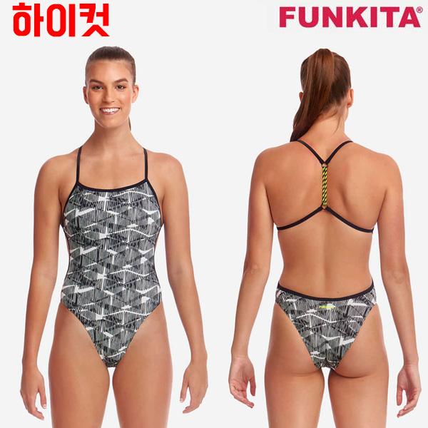 FKS010L02543-Bar Tack 펑키타 FUNKITA 탄탄이 원피스 수영복