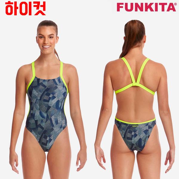 FKS020L02527-Pointillism 펑키타 FUNKITA 탄탄이 원피스 수영복
