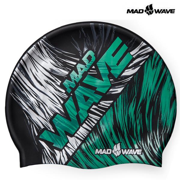 FLAME-GREEN 매드웨이브 MAD WAVE 실리콘 수모 수영모