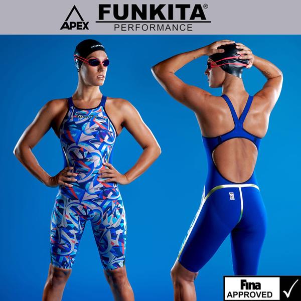 FSP61202519 FINA Futurismo 펑키타 선수용 반전신 수영복
