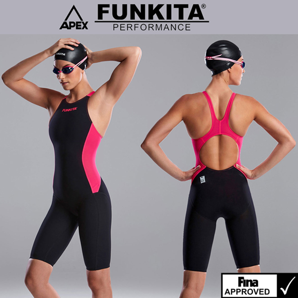 FSP618L01950-FINA Pink Shadow 펑키타 선수용 반전신 수영복