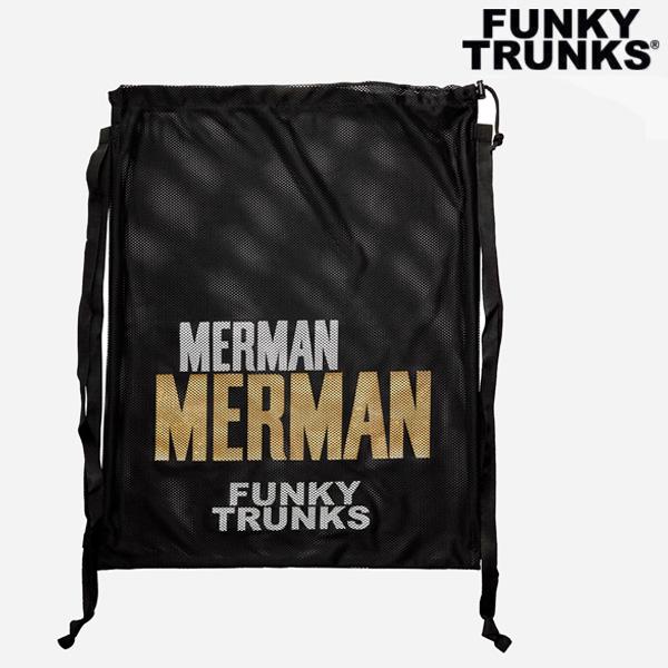 FTG010A02229-Golden Merman 펑키트렁크 메쉬 장비 가방 수영용품