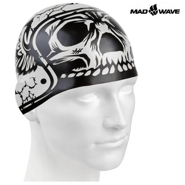 HARD HAT (GREY) MAD WAVE 실리콘 수모 수영모