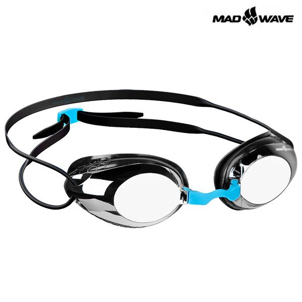 HONEY Mirror (BLACK) MAD WAVE 선수용 패킹 미러 수경