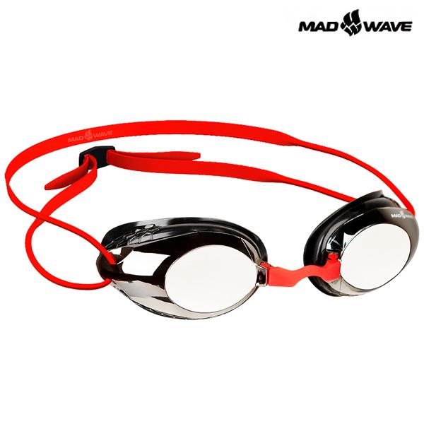 HONEY Mirror (RED) MAD WAVE 선수용 패킹 미러 수경