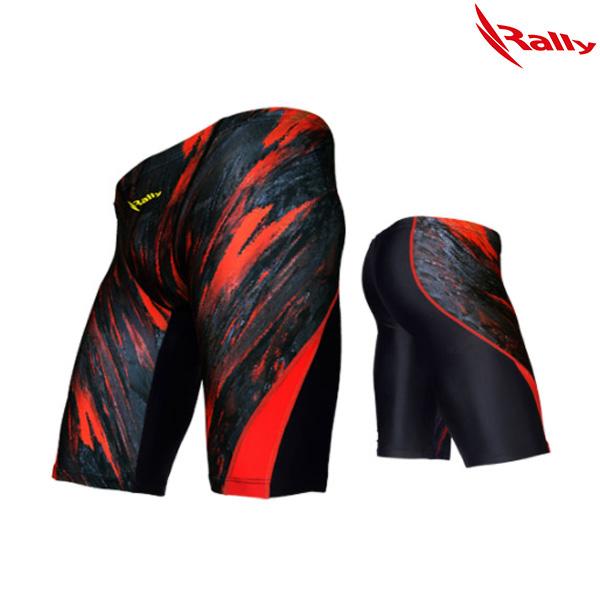 HSMH762-RED 랠리 RALLY 남성 5부 수영복