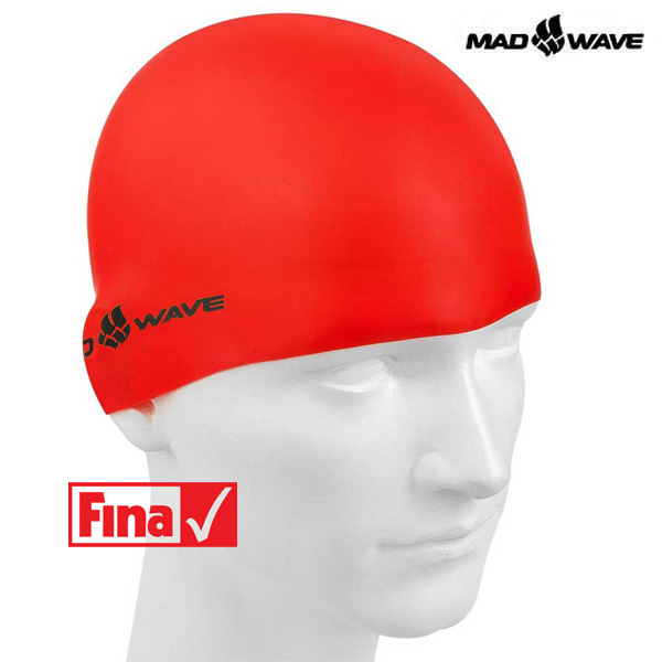 INTENSIVE SILICONE SOLID-RED MAD WAVE 실리콘 수모 수영모