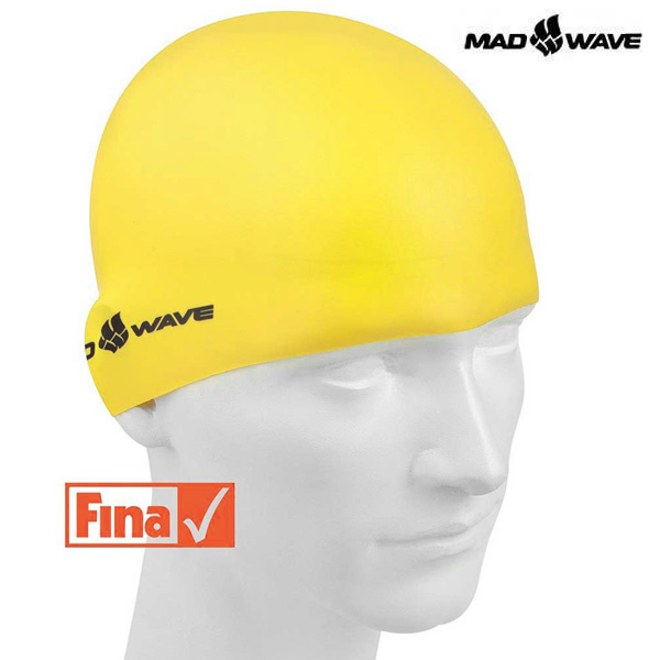 INTENSIVE SILICONE SOLID-YELLOW MAD WAVE 실리콘 수모 수영모