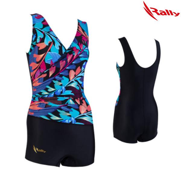 ISLH388-BLK 랠리 RALLY 아쿠아로빅 수영복