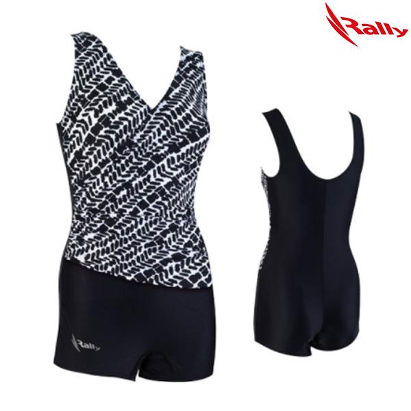 ISLH389-BLK 랠리 RALLY 아쿠아로빅 수영복