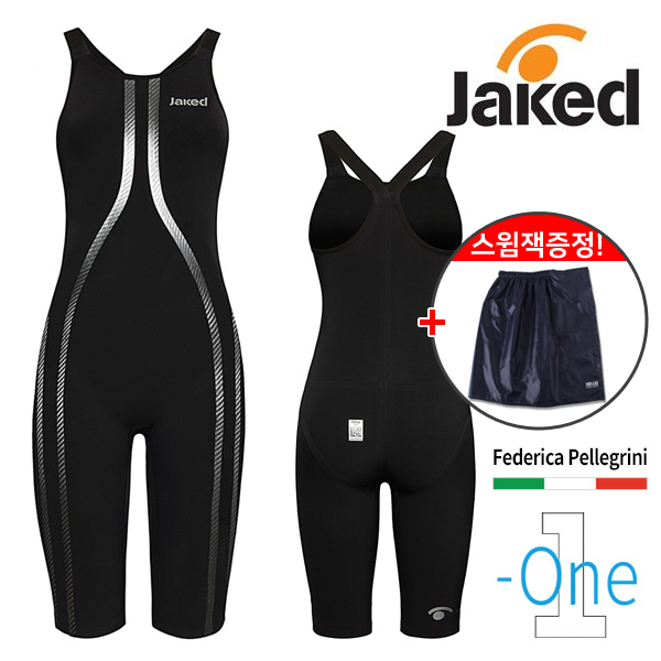 JK-ONE FWS-BLACK NERO-제이키드 JAKED 여자 반전신 클로즈백 선수용 수영복