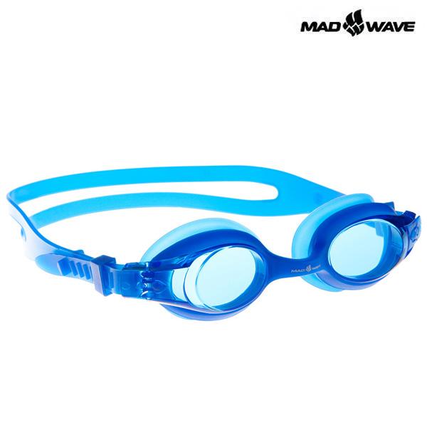JUNIOR AUTOSPLASH-BLUE MAD WAVE 패킹 노미러 수경 주니어