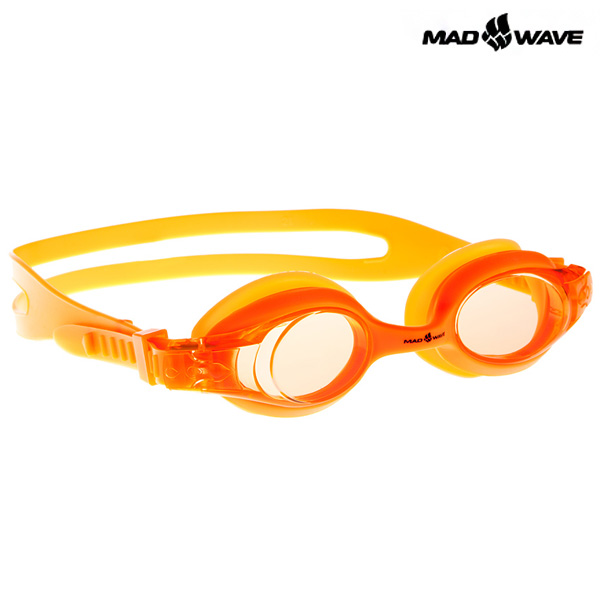 JUNIOR AUTOSPLASH(ORANGE) MAD WAVE 패킹 노미러 수경 주니어