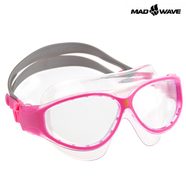 JUNIOR FLAME MASK(PINK) MAD WAVE 오픈워터 수경 주니어