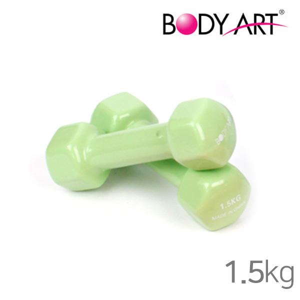 바디아트 PVC 미용아령-1.5kg-그린