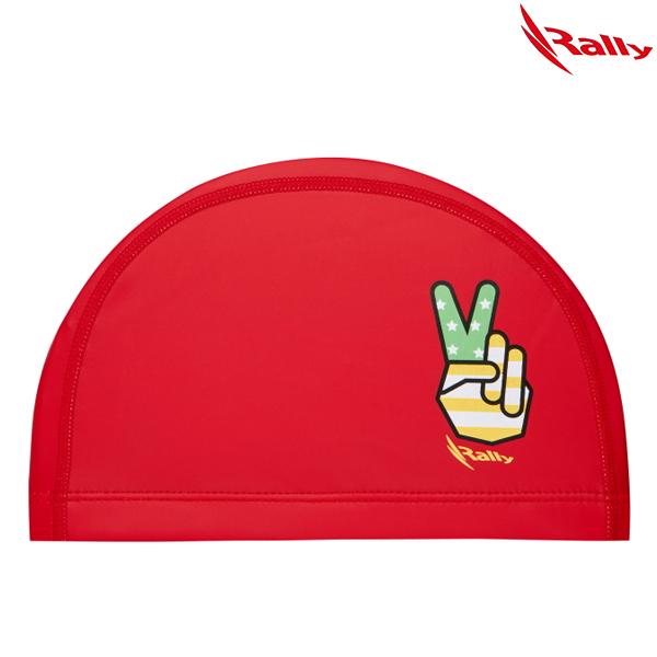 KRKC145-RED 랠리 RALLY 우레탄 아동 수모 수영모