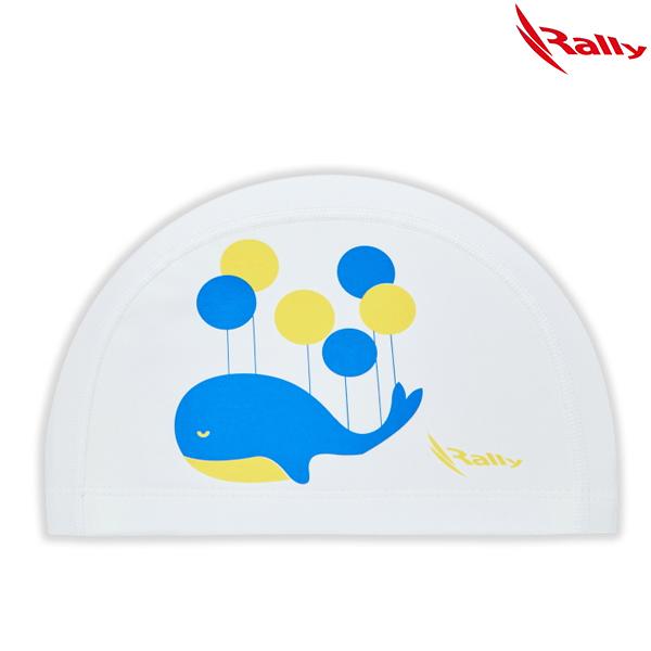 KRKC149-WHT 랠리 RALLY 우레탄 아동 수모 수영모