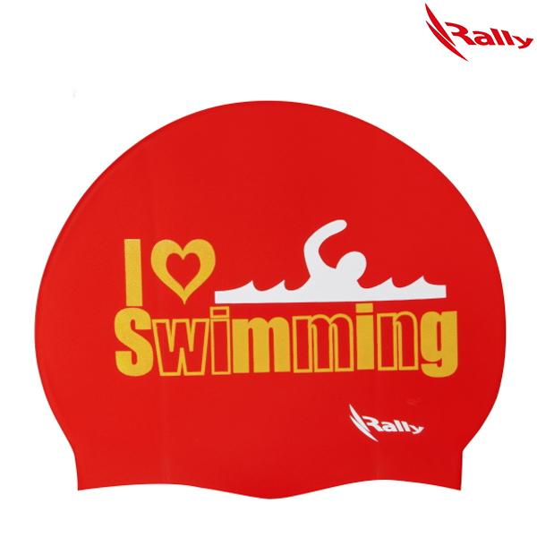 KRUC104-RED 랠리 RALLY 실리콘 수모 수영모