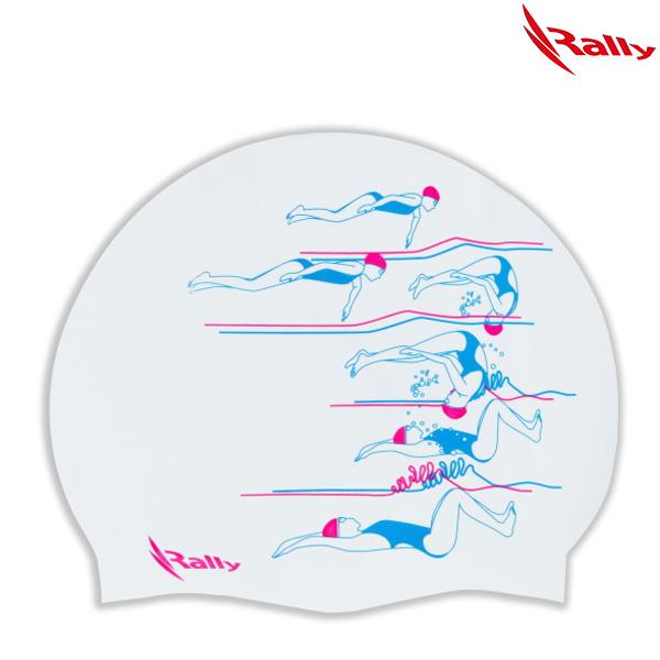 KRUC111-WHT 랠리 RALLY 실리콘 수모 수영모