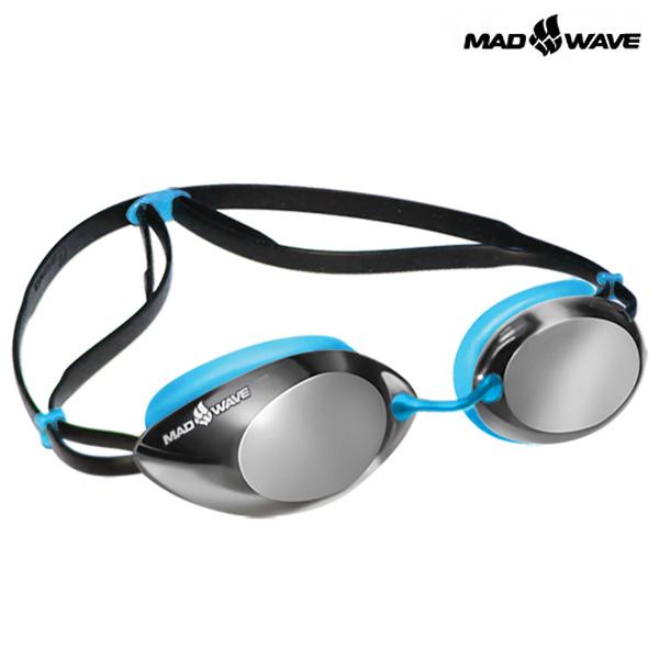 LANE4 Mirror (AZURE) MAD WAVE 선수용 패킹 미러 수경
