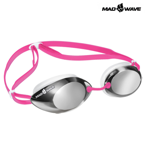 LANE4 Mirror (PINK) MAD WAVE 선수용 패킹 미러 수경