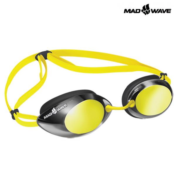 LANE4 Mirror (YELLOW) MAD WAVE 선수용 패킹 미러 수경