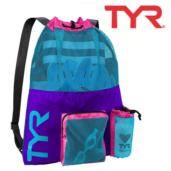 LBMMB3-PURPLE BLUE 티어 TYR 매쉬 가방 수영용품