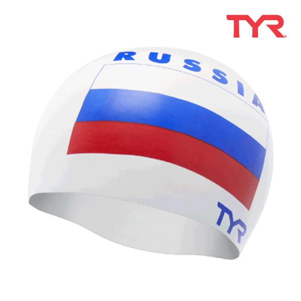 LCSRUS WHITE 티어 TYR 러시아 실리콘 수모 수영모
