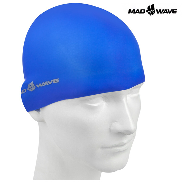 LIGHT SILICONE SOLID(BLUE) MAD WAVE 실리콘 수모 수영모