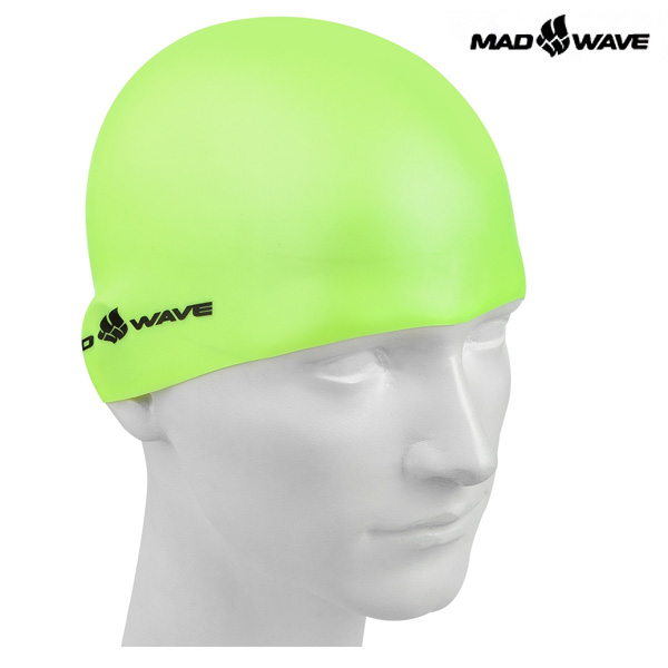 LIGHT SILICONE SOLID(YELLOW) MAD WAVE 실리콘 수모 수영모