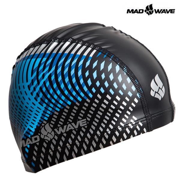 LINES-BLUE 매드웨이브 MAD WAVE 우레탄 코팅 수모 수영모