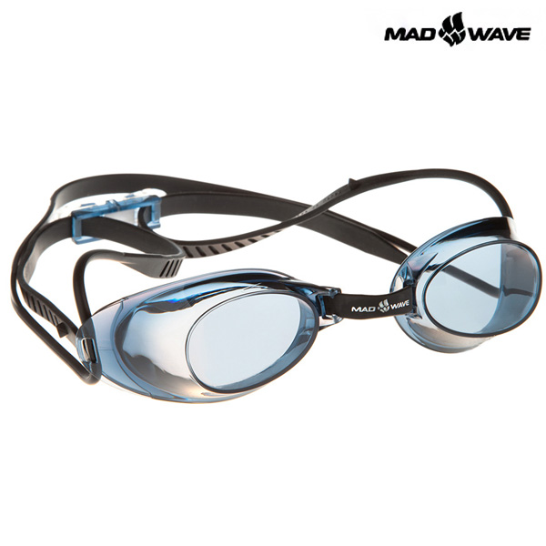 LIQUID RACING-BLACK MAD WAVE 선수용 노패킹 노미러 수경
