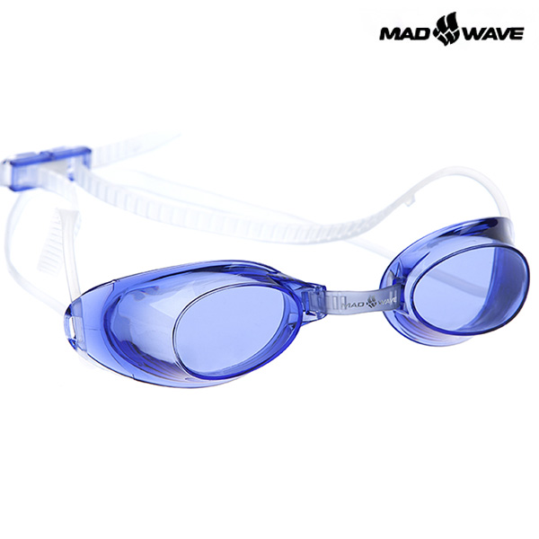 LIQUID RACING-NAVY MAD WAVE 선수용 노패킹 노미러 수경