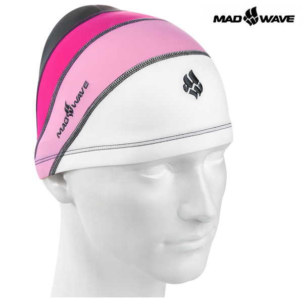 LONG HAIRS ADULT LYCRA(PINK) MAD WAVE 아쿠아 수모 수영모