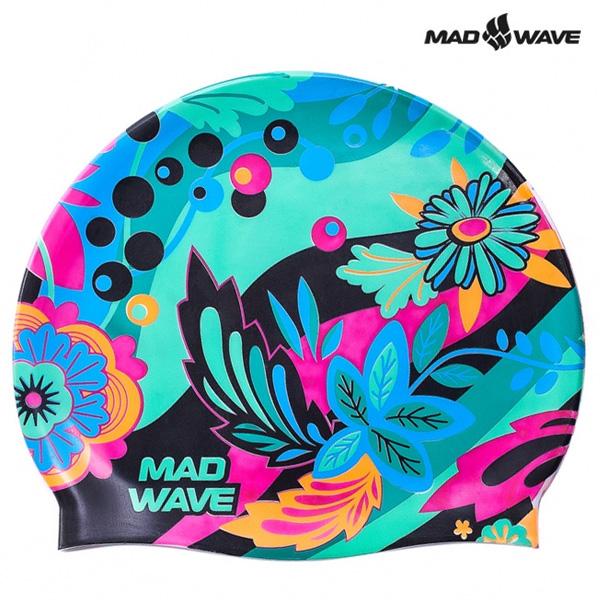 LORY-GREEN MAD WAVE 실리콘 수모 수영모