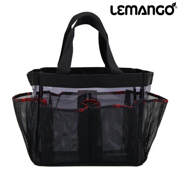 르망고 SNS BAGS_RECTANGLE 메쉬백-LSMB015-BLACK