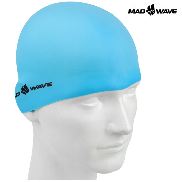 Light Silicone Solid (AZURE) MAD WAVE 실리콘 수모 수영모