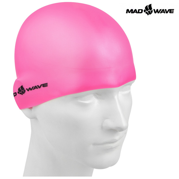 Light Silicone Solid (PINK) MAD WAVE 실리콘 수모 수영모