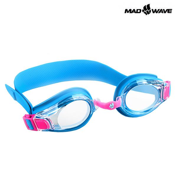 KIDS BUBBLE-BLUE MAD WAVE 패킹 노미러 어린이 수경