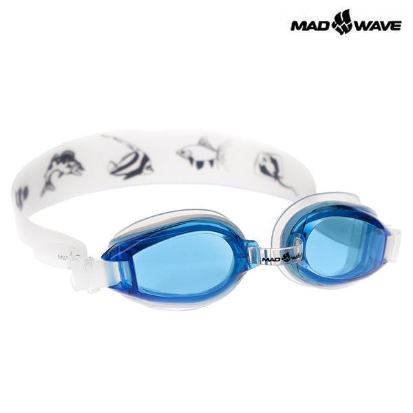 KIDS COASTER-BLUE-WHITE MAD WAVE 패킹 노미러 어린이 수경