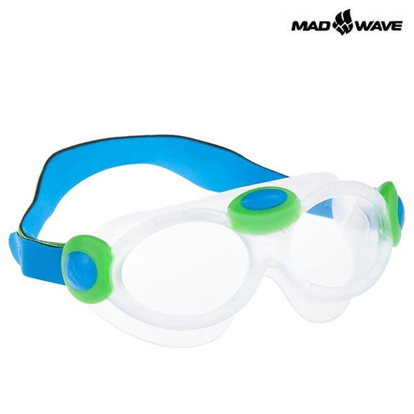 KIDS BUBBLE MASK-BLUE MAD WAVE 패킹 노미러 어린이 수경